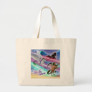 Riding on Moonbeams Large Tote Bag