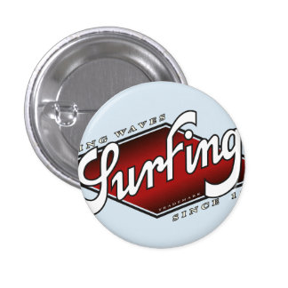 riding plates surfing waves 3 cm round badge