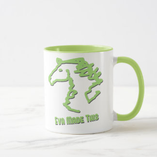 Riding Rainbow Mugs - Eva made this