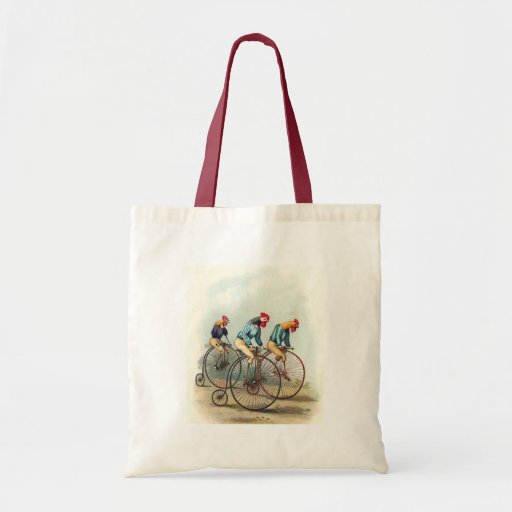 Riding Roosters Canvas Bags