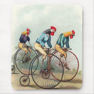 Riding Roosters Mouse Mat