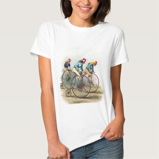 Riding Roosters T Shirt