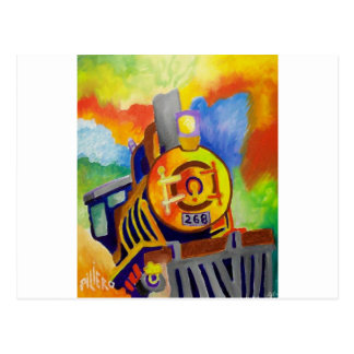 Riding That Train by Piliero Postcards