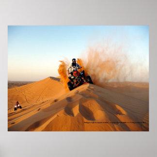 Riding Through the Deserts of Dubai Poster