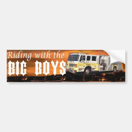 riding with the big boys bumper sticker