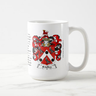 Ridley, the Origin, the Meaning and the Crest Coffee Mug