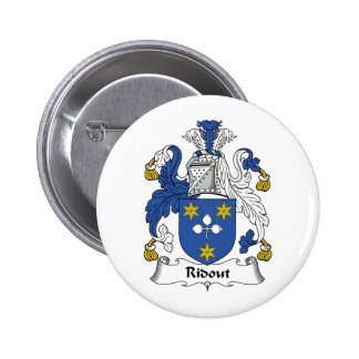 Ridout Family Crest 6 Cm Round Badge