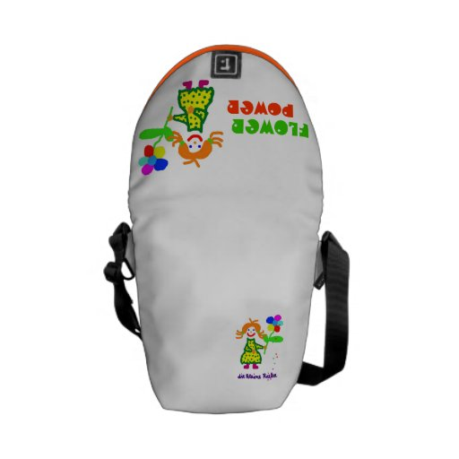 """""""Riekes flower power"""" - curing ashes small Messenger Bags"""