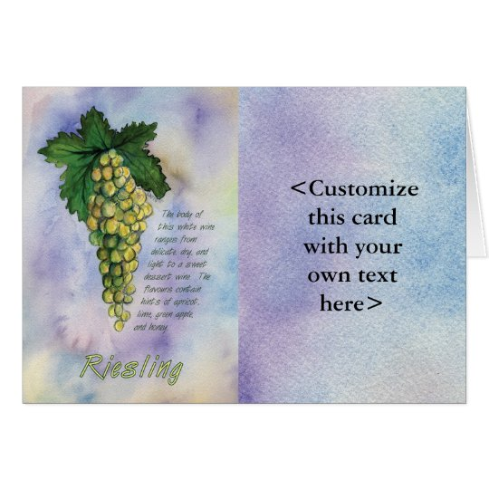 Riesling White Wine Card