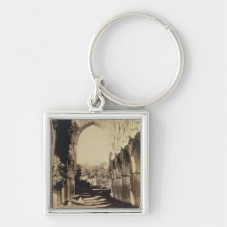 Rievaulx Abbey, North Yorkshire, 1854 (sepia photo Silver-Colored Square Key Ring