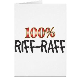 Riff-Raff 100 Percent Greeting Card