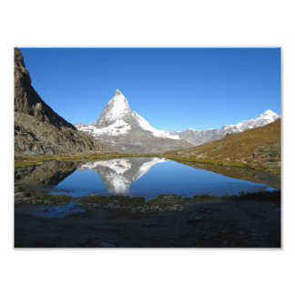 Riffelsee Matterhorn reflection Photo Paper