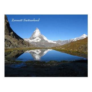 Riffelsee Matterhorn Zermatt Swiss Alps Postcard