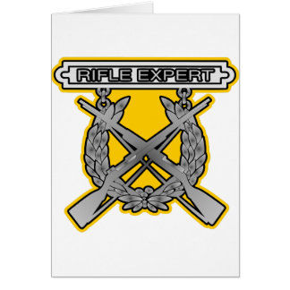 Rifle Expert Badge Card