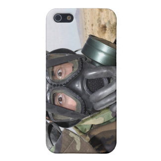 Rifleman puts on his gas mask iPhone 5/5S cover