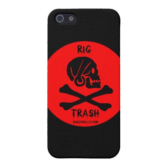 Rig Trash,Skull & Crossbones,iPhone Case,Oil iPhone 5 Cover