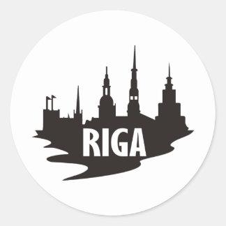 Riga Classic Round Sticker