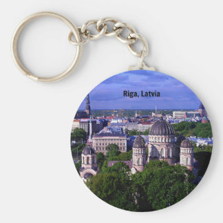 Riga, Latvia cityscape Key Ring