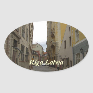 Riga Latvia Oval Sticker
