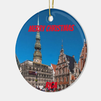 Riga Latvia Scenic Ornament