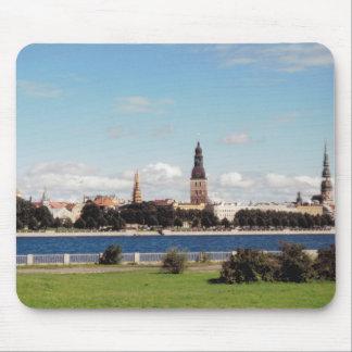 Riga (panoramic view) mouse mat