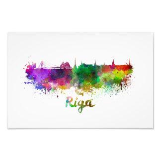 Riga skyline in watercolor photo print