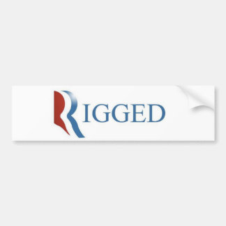 Rigged Bumper Sticker, GOP, RNC, Election Bumper Sticker