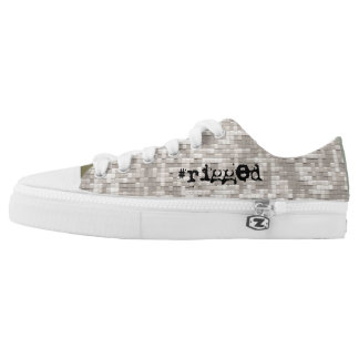 #rigged, nyc™ Rochester - Digital Army Camo #USA Printed Shoes