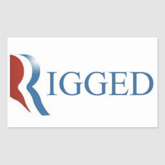 Rigged Rectangle Sticker, GOP, Republican Party
