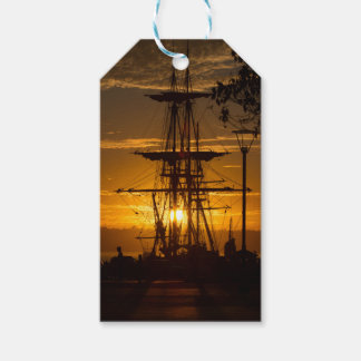 Rigged Tall Sailing Ship at Sunset Gift Tags