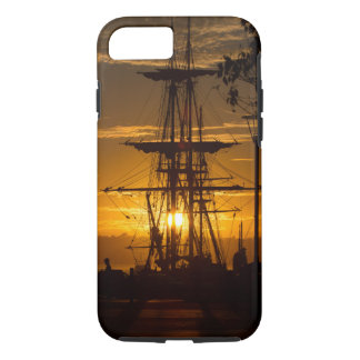 Rigged Tall Sailing Ship at Sunset iPhone 8/7 Case