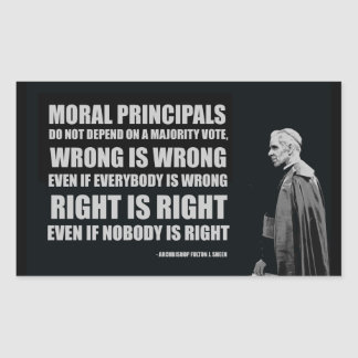Right and Wrong Bishop Sheen Stickers