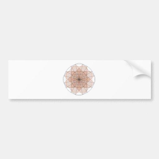 right-angled golden delicious flower bumper sticker