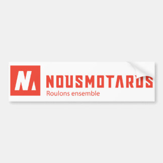 Right-angled Sticker Nousmotards Bumper Sticker