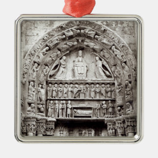 Right bay of the Royal Portal, mid-12th century Silver-Colored Square Decoration