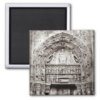 Right bay of the Royal Portal, mid-12th century Square Magnet