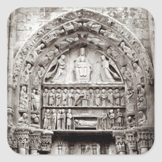 Right bay of the Royal Portal, mid-12th century Square Sticker