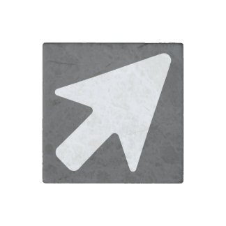 Right Cursors Minimal Stone Magnet