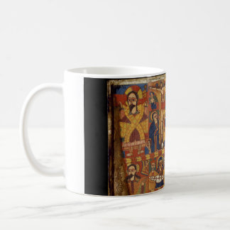 Right Diptych Panel with Virgin and Child Flanked Basic White Mug