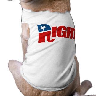 RIGHT DOG TSHIRT