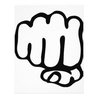 right fist icon 21.5 cm x 28 cm flyer