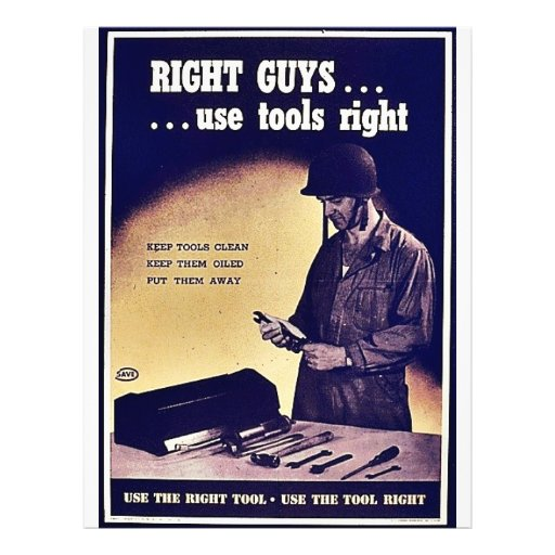 Right GuysUse Tools Right Flyers