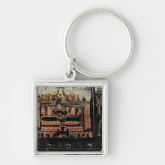Right hand side of Diptych showing the Parliament Silver-Colored Square Key Ring