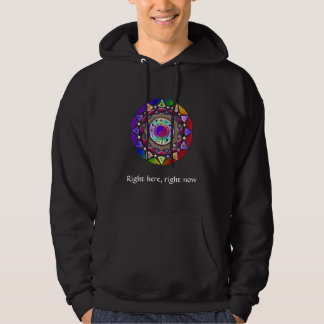Right here, right now Mandala Hoodie