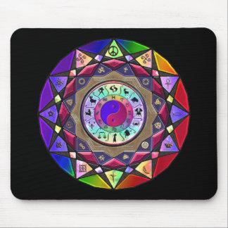 Right Here Right Now Mandala Mousepad
