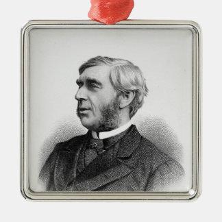 Right Honourable George J. Goschen Silver-Colored Square Decoration