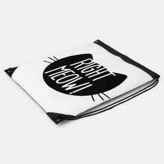 _right meow drawstring bags