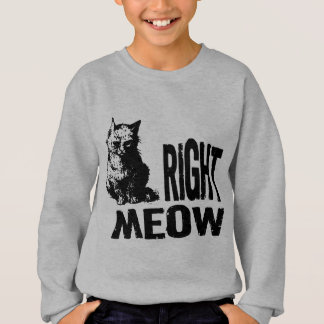 Right MEOW! Funny Evil Kitty Sweatshirt