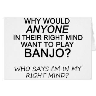 Right Mind Banjo Card