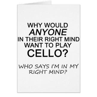 Right Mind Cello Card